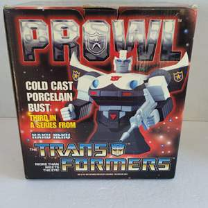 Transformers Prowl Cold Cast Porcelain Bust Numbered Edition NIB
