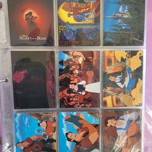 Disneys Beauty and The Beast Complete Set Trading Cards in Pages