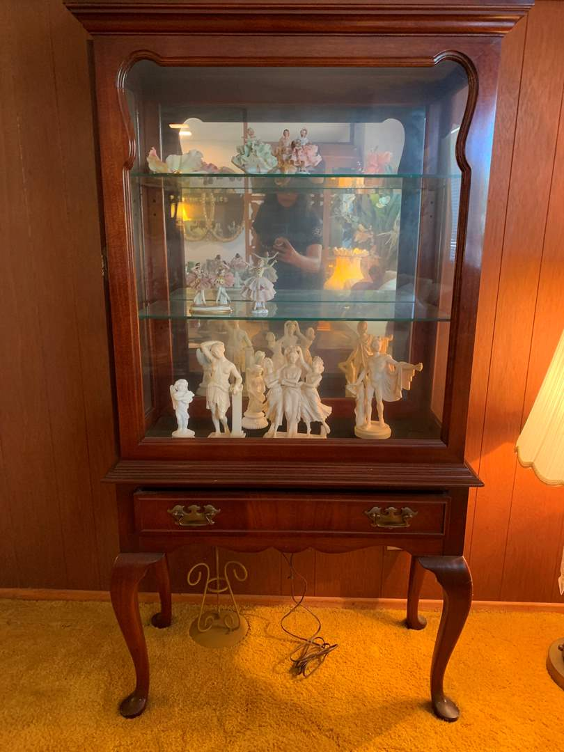 Glass Display Case with Drawer (contents not included) (main image)