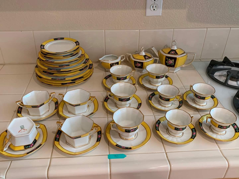 Antique Limoges France Depose T&V Tea Set - GORGEOUS! (main image)