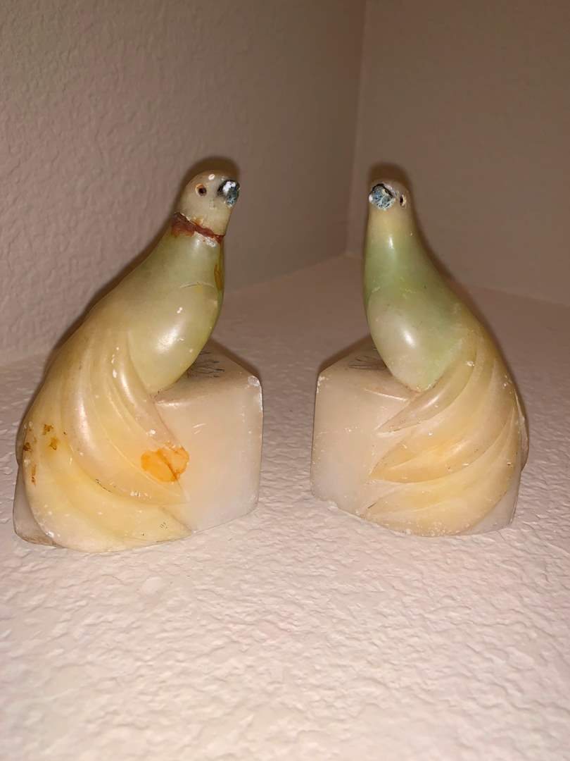 Marble Peacock Bookends (main image)