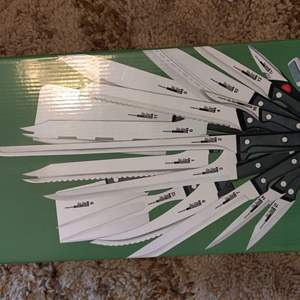 Lot # 9 as seen on TV ronco 25-piece knife set new stainless steel
