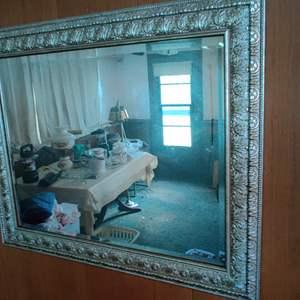 Lot # 24 silver mirror 34 x 28
