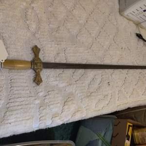 Lot # 68 great sword knights of Columbus or templer Pettibone Bros ohio