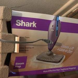 Lot # 74 shark steam mop and iron new in opened box