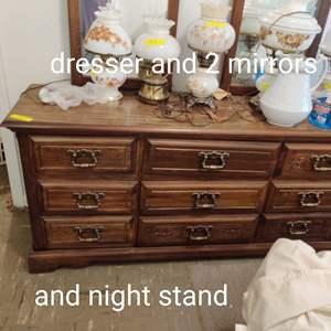 Lot # 92 dresser and nightstand