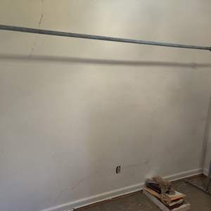 Lot # 107 heavy-duty galvanized pipe clothes rack 8 foot long