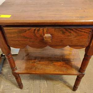 Lot # 108 solid wood end table