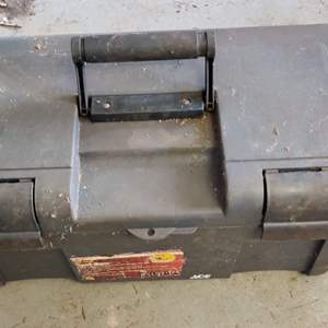 Lot # 122 Ace brand tool box with 8 small clamps
