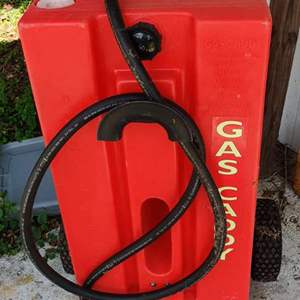 Lot # 150 brand new unused gas caddy with nozzle