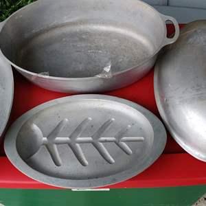 Lot # 156 aluminum cooking pots