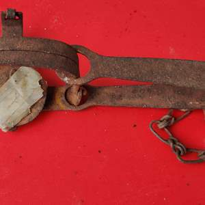 Lot # 168 small working vintage animal trap