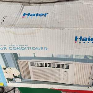 Lot # 172 haier air conditioner in the box window unit used untested