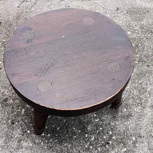 Lot # 184 very nice handmade wooden stool 10 in by 14 in