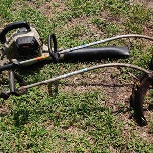 Lot # 192 lot of 2 gas weed eaters and a gas Craftsman blower