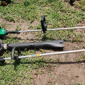 Lot # 193 lot of 2 gas weed eaters and 1 gas Ryobi blower