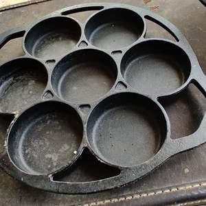 Lot # 196 cast iron muffin pan cracker barrel 11 inch