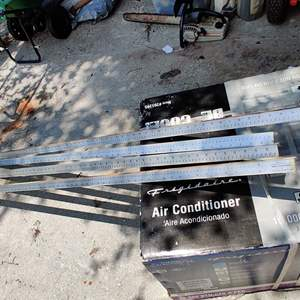 Lot # 201 two sets of rule-o-matic material measuring sticks aluminum they go from one inch to 141 in and 2 pieces two sets