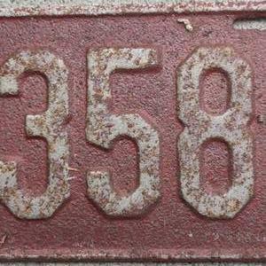 Lot # 219 antique 1931 vintage license plate tag