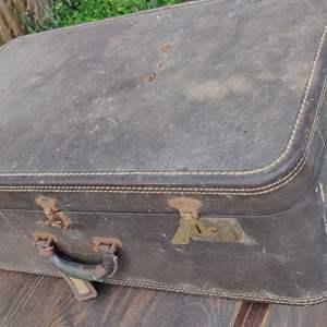 Lot # 235 vintage suitcase