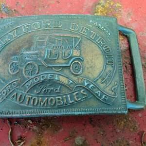 Lot # 243 vintage model t Ford belt buckle