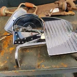 Lot # 245 rival meat slicer works nice