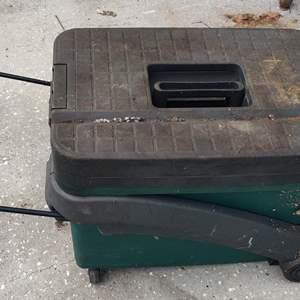 Lot # 304 pull-behind Craftsman tool box on wheels