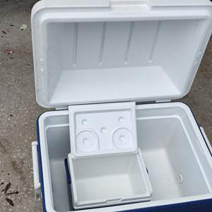 Lot # 305 two coolers blue and white