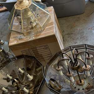 Lot # 313 lot of 4 ceiling chandeliers as is