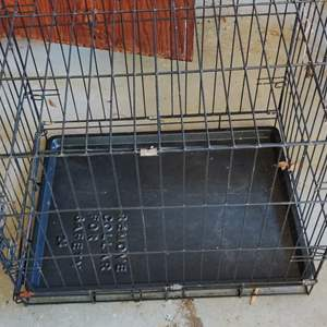 Lot # 317 dog cage crate black