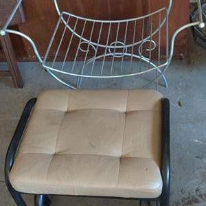 Lot # 318 two stools one vanity and one footstool