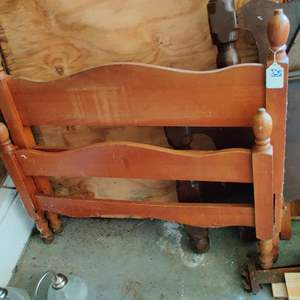 Lot # 325 twin Maple bed headboard and footboard