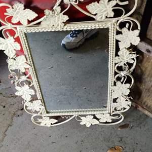 Lot # 343 metal framed mirror