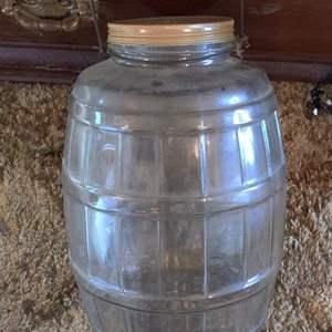 Lot # 350 Lot # 350 vintage large pickle jar with bail handle