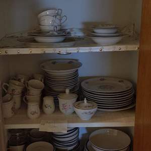 Lot # 356 closet full of dishes noritake and more