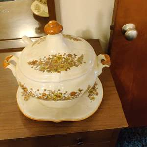 Lot # 363 very nice soup tureen with ladle and undertray