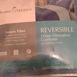Lot # 366 king size home classics comforter with two shams new in the plastic