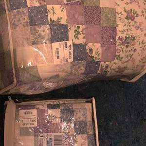 Lot # 367 king size bedspread with one sham new
