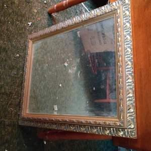 Lot # 373 gold-framed mirror