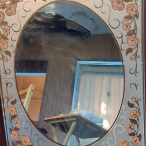 Lot # 390 mirror with flowers