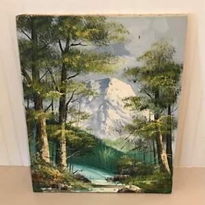 Auction Thumbnail for: Lot # 100 Mountain Scene Oil on Canvas by Mora Svia