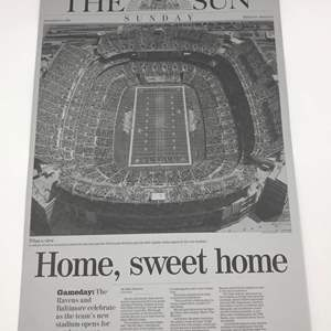 Auction Thumbnail for: Lot # 179 BALTIMORE RAVENS FIRST GAME Baltimore Sun Printing Plates (Lot of 2)