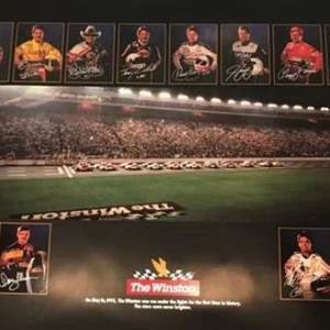 Auction Thumbnail for: Lot # 225 Vintage NASCAR WINSTON CUP SERIES Poster VERY FIRST EVER NIGHT RACE 1992