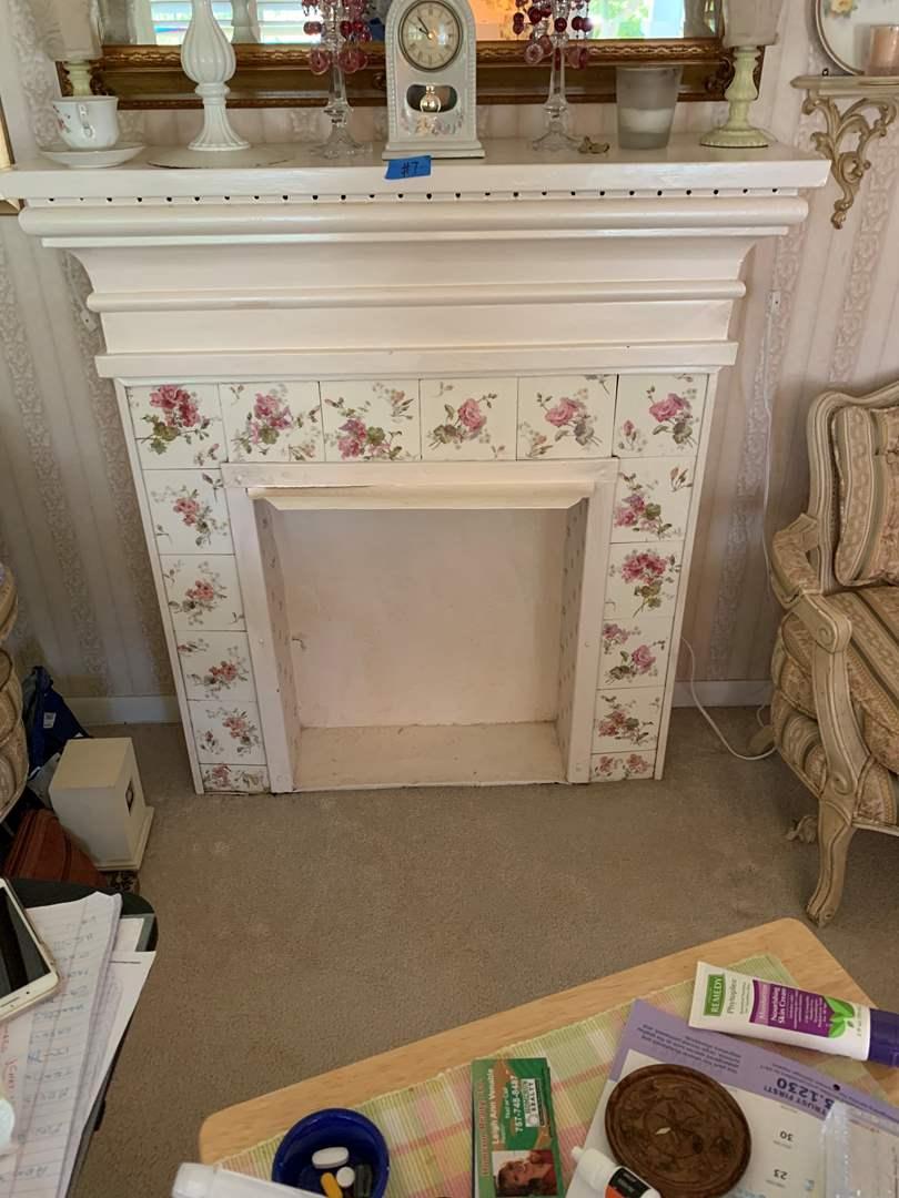 Lot # 7 Faux Fireplace Mantle, Pretty Tile Accents