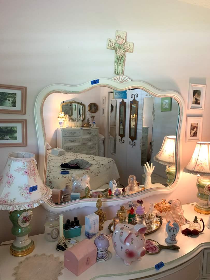 Lot # 27 Vintage Mid Century Wall Mirror