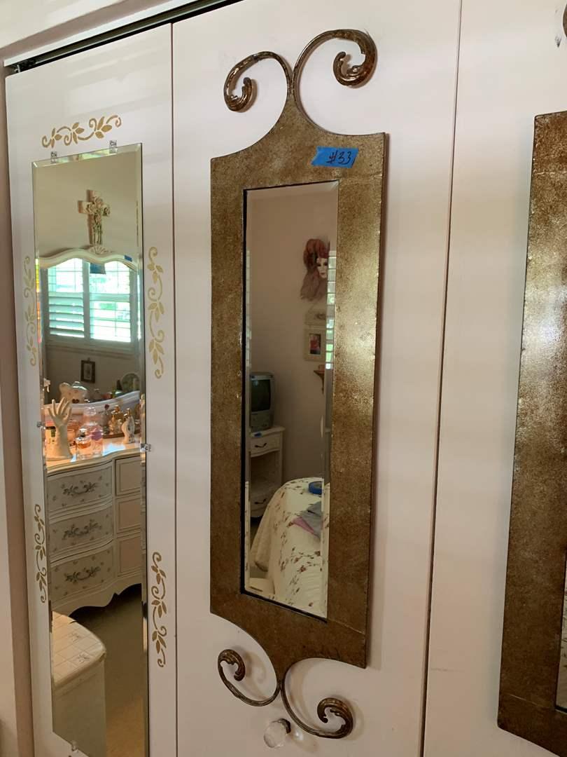 Lot # 33 Unique Bronze Look Mirror