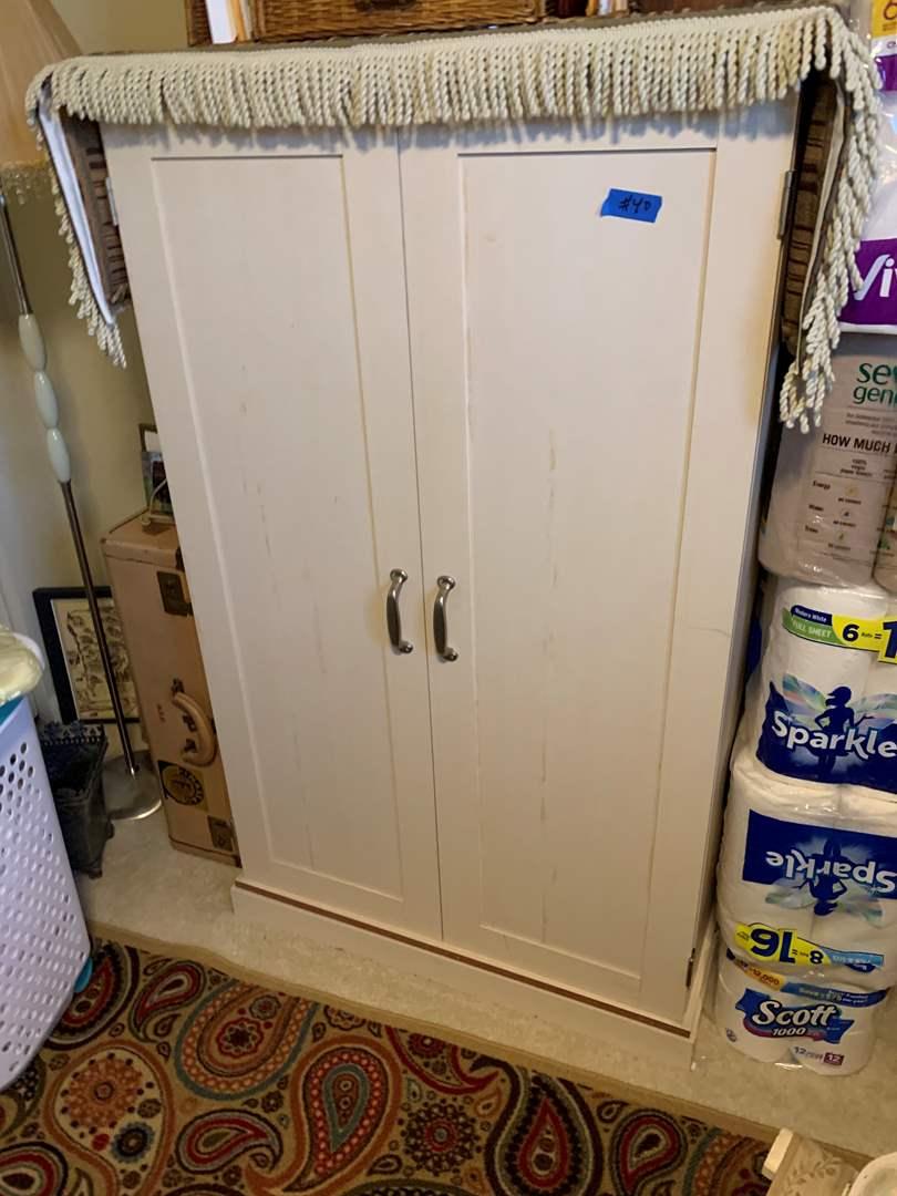 Lot # 40 Wood 2 Door Storage Cabinet