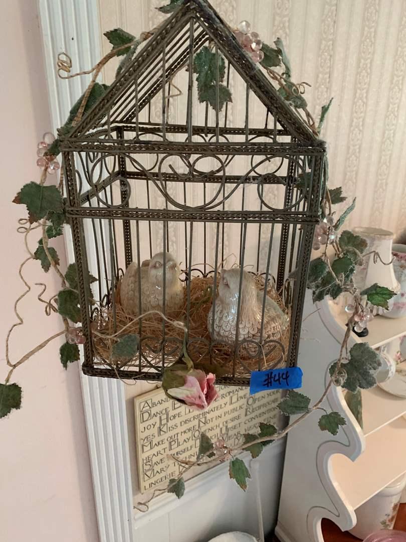 Lot # 44 Metal Braided Wire Decorative Birdhouse