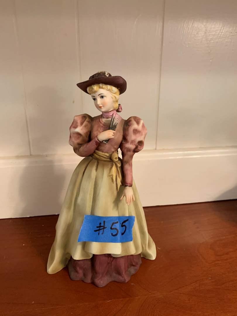 Lot # 55 Vintage Hand Painted Lefton China Lady Figurine