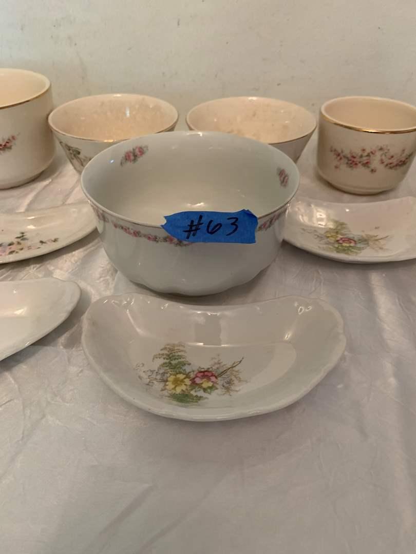 Lot # 63 Various Lot of Porcelain Cups, Plates